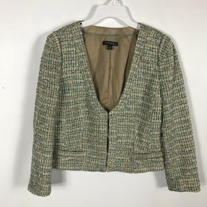 Ann Taylor Tweed Multicolor Blazer